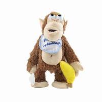 Funny Chimpanzee Plush Stuffed Animal Toy Don't Touch My Banana Doll