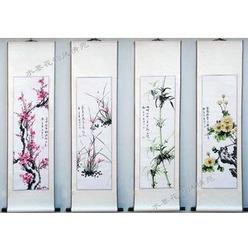 Inchiostro dipinti, cinese dipinti crisantemo modelli di quattro