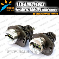 2013 Newest OEM design Headlamp 20W CREE LED Marker angel eyes for BMW E90 E91, led auto headlight