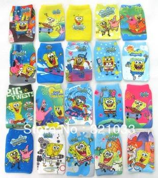 Wholesale - 100pcs Sponge bob Squarepants Mp3 Mp4 Mobile Phone Sock