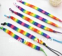 Colorful nylon handmade custom braided rope bracelet men
