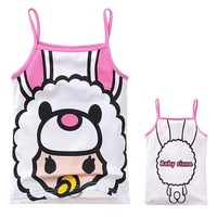 Free shipping!2013 new summer 100% cotton vest for children  Wholesale 6pcs/lot  cartoon sleeveless t shirt.