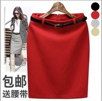 Autumn and winter new arrival bust skirt short skirt high waist slim hip skirt step full dress tailored skirt woolen ol medium