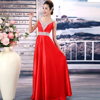 2014 hot sale elegant evening dresses,dress party evening elegant long purple,gold,blue,red XXL,free shipping