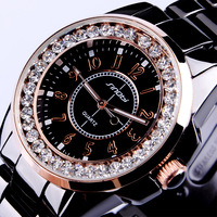 Lovers fashion rhinestone waterproof watch fashion spermatagonial medium-large