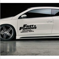 Free shipping 2013 New style Fashion cool fast and furious car side door stickers accessories for VW CC POLO and so on     N-445
