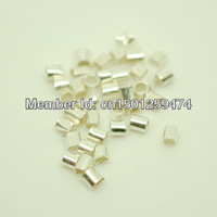 10,000 Bright Silver Plated 1.5mm Crimp Tube Beads