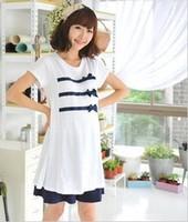 free shipping Blue 2013 trueing maternity clothing summer 100% cotton maternity t-shirt maternity dress one-piece dress