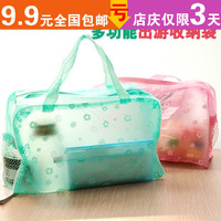 Derlook transparent waterproof cosmetic bag bath products storage bag wash bag