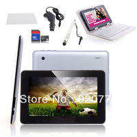 "7.0"" Google Android 4.0 Tablet 4G Tablet PC +Keyboard PU leather case+Stylus pen+Car charger+Protective Film+8GB Memory Card"