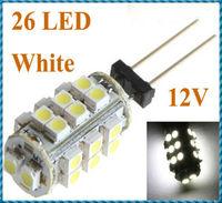 5pcs/lot G4 26 White/Warm White SMD LED 1210 Light Home Car RV Marine Boat Lamp Bulb DC-12V Wholesale