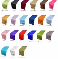 """(100PCS/Lot), Table runner,  Size 12""""x108"""", Satin Fabric, Wedding & Party decoration, Multicolor in stock"""