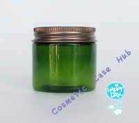 50g/ml Plastic Green Acrylic Cream Jar Cosmetic lotion Bottles Container with gold cap Packaging Bottle
