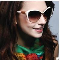 Big small box sunglasses women's 2013 glasses summer big white ultra-light elegant