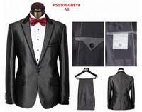 Free shiping!!! Men's brand Suits  men  Wedding Suit male formal dress suit for men bright grey ( coat+pants+vest+tie+kerchief)