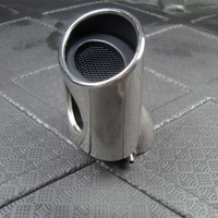 muffler exhaust system tip For Honda 2012 2013 Civic Chrome Stainless Steel Exhaust Muffler Tip