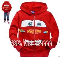 wholesale cartoon Red  childrens clothing boy's girl's top shirts Zipper cardigan Hooded Sweater hoodie coat jacket