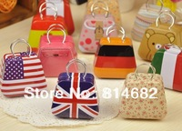 Free shipping new Handbag mini storage tin box small candy box cute iron box  8 different design 45*50mm for wedding box