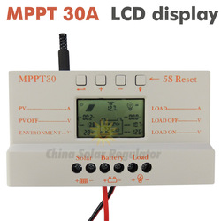 MPPT 30A mppt 30 solar charge controller 12V 24V auto work with lcd display(China (Mainland))