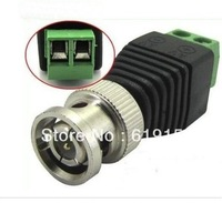 Freeshipping 50pcs Coax CAT5 to CCTV Camera BNC Male Connector, BNC Connector Plug for CCTV Cable