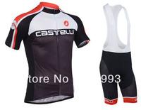 2013 Castelli Newest And Hot Selling Cycling Jersey(Maillot)+Bib Short(Culot)/Racing  Wear/Sport Cloth/ Biking Gear