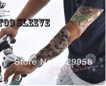 High quality! 2013 new arrival fashion cartoon sleeve sun-proof  tattoo sleeve suits for man cheapest price