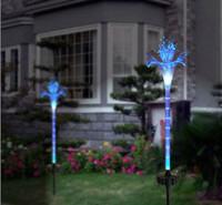 A25ag xg solar energy led  fiber optic lily lights garden lamp outdoor decoration light Landscape yard pathway luminaria lantern