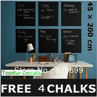 [Top-Me]-New Hot! 45*200cm Blackboard Removable Vinyl Wall Sticker Chalk Board