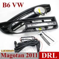 B6 Magotan 2011 VW Volkswagen DRL daytime running lights LED Foglight LED daylight DRL 1:1 auto car headlights Free HK Post