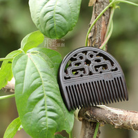 Handmade sculpture thick combs quality ebony combs