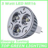 Free Shipping 3 x LED MR16 Spot Light Bulb 3W Energy Saving 3 Watt MR16 LED Spotlight Replace Halogen Lamps 20W