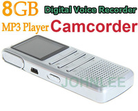 Multifunctional Rechargeable 8GB USB Digital Voice Recorder vedio recorder Dictaphone Camcorder Camera MP3 Player