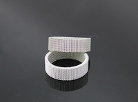 Free shipping  fashion Wholesale lots 36pcs  Mesh Band Ring Stainless Steel Flexible Wire Woven White s1011