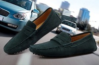 Free shipping Retail men's casual shoes men's shoes leather shoes 39-44 blue black green