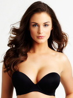 Plus big size sexy bras New 2014 lingerie fashion thickening water bag slip-resistant no shoulder tape wedding bride underwear