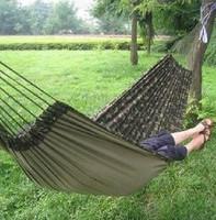 Free Shipping!! Outdoor Camouflage double hammock canvas hammock casual hammock 200 150cm broadened