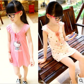 Wholesale 2013 new arrival flower girls hello kitty dress children's dresses kids clothes kids clothes