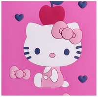 3D carved silicon hello kitty brand fashion case for apple tablet ipad 4 3 2 cute cartoon covers pink red cases retail 1 piece