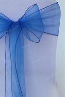 Free shipping 100PCS Organza Chair Sashes Bow Cover for Banquet/wedding/party 19 color free shiiping by HongkongKpost