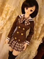 Free shipping 1/3 1/4 high quality cute students bjd suit