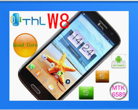 Free shipping original THL W8 MTK6589 RAM1G ROM 16G quad core Android 4.1 5.0 'Screen 8MP perfect(xd)