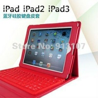 Leather Case + wireless Bluetooth Keyboard for iPad 2 iPad3 the new pad stand bag colors