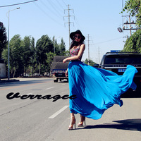 verragee 2013 summer New arrival women Europe and America Chiffon pleated goddess long white skirts
