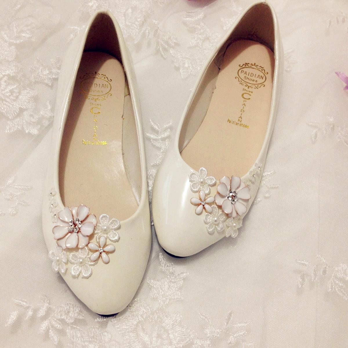 White Flat Wedding Shoes Promotion Online Shopping For Promotional White Flat Wedding Shoes On