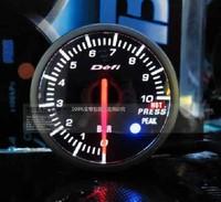 Freeshipping white/blue Or white/red 2 inch gauge 60mm car gauge oil pressuge gauge