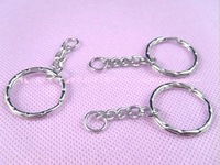 Free Shipping Fashion Accessories 25mm 50pcs/bag key chain ring for jewelry making