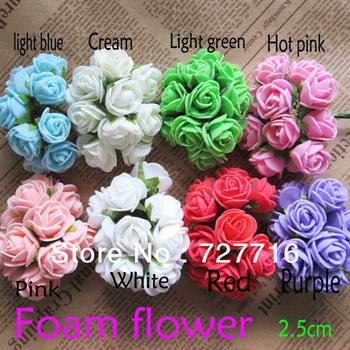 Free shipping!! Hot sale PE foam mini flower / Artificial ornament rose flower /  8 color  144PCS/LOT
