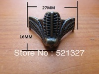 Antique furniture foot  alloy foot box 27 * 16MM four corners decorative feet