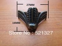 Antique furniture foot  alloy foot box 27 * 16MM four corners decorative feet