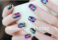 New 12 Mix Rolls Color  Available Nail Art Transfer Foils Sticker Adhesive Acrylic Gel Tips Decoration Aluminum +Bottle